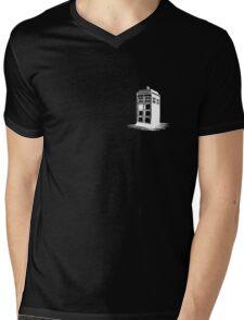 Dr Who's Tardis - White Mens V-Neck T-Shirt