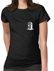 Dr Who's Tardis - White Womens Fitted T-Shirt