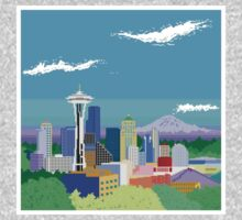 Seattle Pixel Skyline Kids Clothes