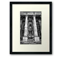 Main entrance Parliament House Adelaide. Framed Print