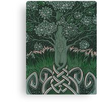 Tree of cognizance - acrylic on board Canvas Print