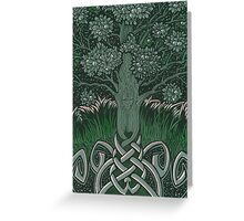Tree of cognizance - acrylic on board Greeting Card