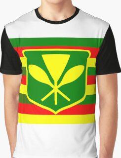 Kanaka Maoli - Native Hawaiian Flag Graphic T-Shirt