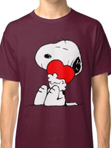Snoopy Heart Love Classic T-Shirt