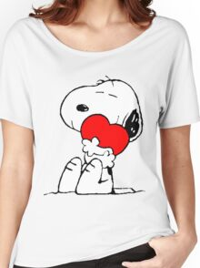 Snoopy Heart Love Women's Relaxed Fit T-Shirt