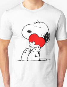 Snoopy Heart Love Unisex T-Shirt