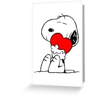 Snoopy Heart Love Greeting Card