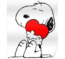 Snoopy Heart Love Poster