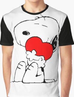 Snoopy Heart Love Graphic T-Shirt