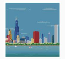 Chicago Pixel Skyline Kids Clothes