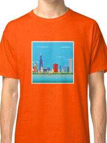 Chicago Pixel Skyline Classic T-Shirt