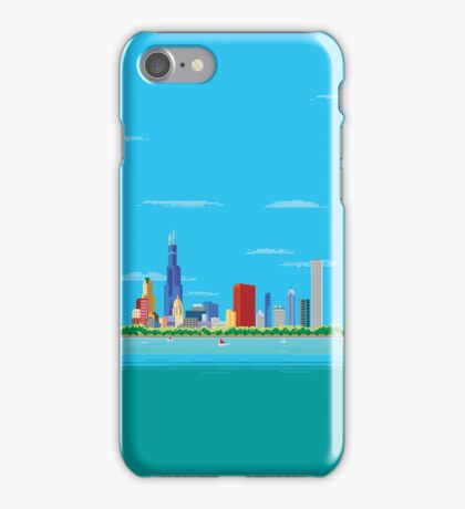 Chicago Pixel Skyline iPhone Case/Skin