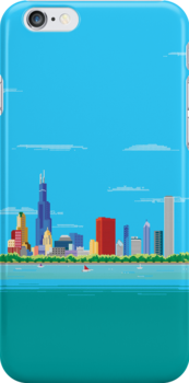 Chicago Pixel Skyline by thedailyrobot