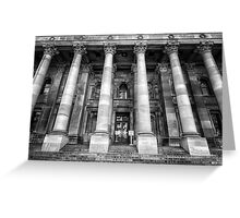 Parliament of South Australia pillars. Greeting Card