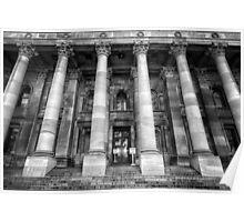 Parliament of South Australia pillars. Poster