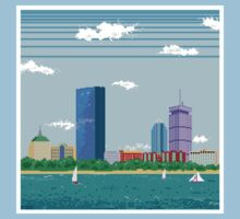 Boston Pixel Skyline Kids Clothes
