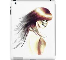 Skull Girl_White iPad Case/Skin