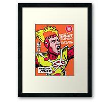 Post-Punk Heroes | Fire Framed Print