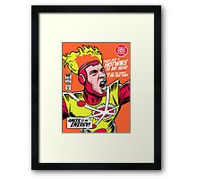 Post-Punk Heroes | Fire Framed Print