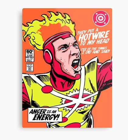 Post-Punk Heroes | Fire Metal Print