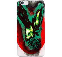 Green Gothic Phoenix flying in the red sun with creature iPhone Case/Skin