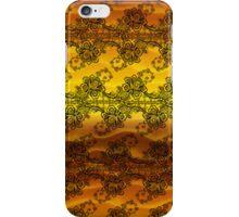 Black Lace Over Golden Waves iPhone Case/Skin