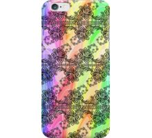 Black Lace Over Pastel Rainbow  iPhone Case/Skin