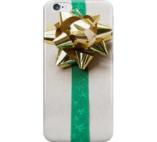 Gift Wrapped Bow and Ribbon on Recycled Paper iPhone Case/Skin