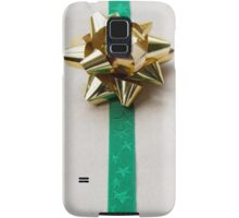 Gift Wrapped Bow and Ribbon on Recycled Paper Samsung Galaxy Case/Skin