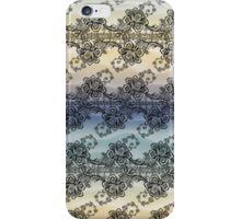 Black Lace over Soft Pastel Waves iPhone Case/Skin