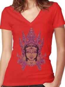 The Inner Goddess Women's Fitted V-Neck T-Shirt