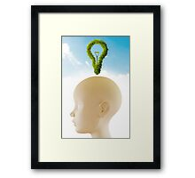 Green Idea Framed Print