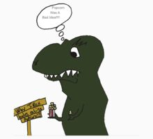 T-Rex and His Popcorn by Roberto A Camacho