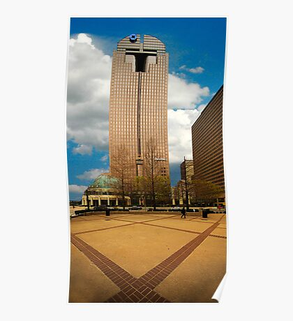Downtown Dallas Chase Bank Building Poster