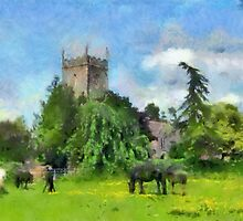 Pastoral scene, Frampton On Severn, Gloucestershire, UK by buttonpresser