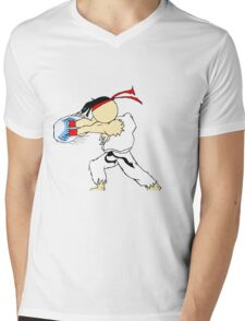 RYU's Hadouken Mens V-Neck T-Shirt