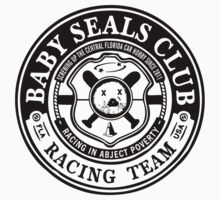 Baby Seals Club Racing White T-shirt by DickVanDork