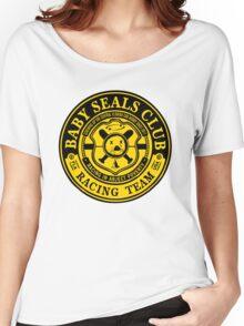Baby Seals Club Racing Black T-shirt Women's Relaxed Fit T-Shirt