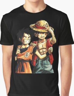 Monkey D. Luffy and Goku Graphic T-Shirt