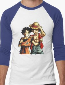 Monkey D. Luffy and Goku Men's Baseball ¾ T-Shirt