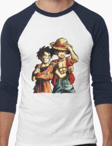 Monkey D. Luffy and Goku Men's Baseball ¾ T-Shirt