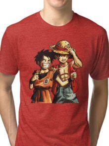 Monkey D. Luffy and Goku Tri-blend T-Shirt