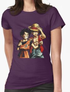 Monkey D. Luffy and Goku Womens Fitted T-Shirt