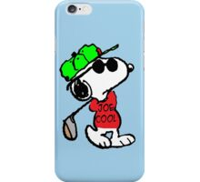 Joe Cool and Golf iPhone Case/Skin
