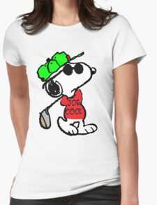 Joe Cool and Golf Womens Fitted T-Shirt