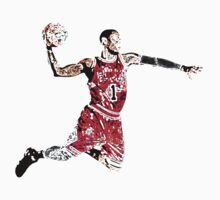 Derrick Rose Shirt Design by Mac Poole