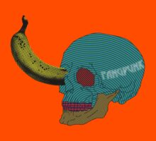 Pop Art Skull Banana T Shirt by Fangpunk