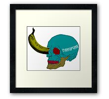 Pop Art Skull Banana T Shirt Framed Print