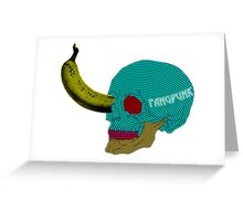 Pop Art Skull Banana T Shirt Greeting Card