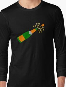 Champagne Bottle and Popping Cork Long Sleeve T-Shirt
